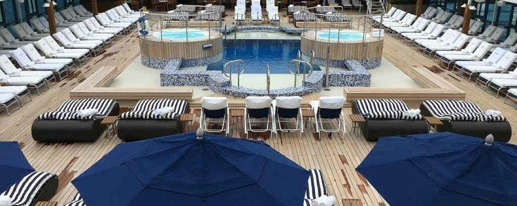 Sun deck on-board Oceania Nautica