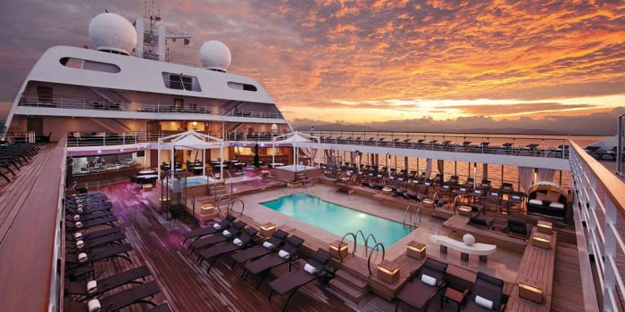 Seabourn Odyssey - Sunset on-deck