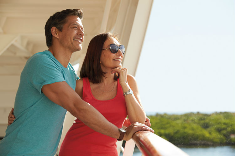 Couple on-board Seabourn - Seabourn Cruises