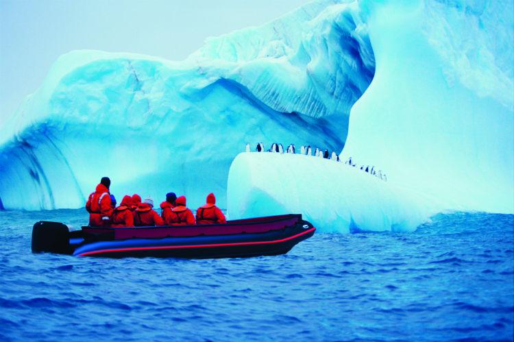 Guests on-board Zodiac - Scenic Ocean
