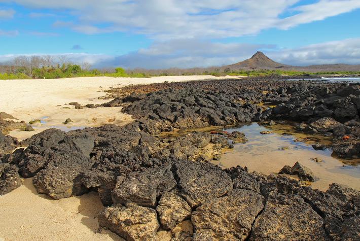 Volcano on a Galapagos island