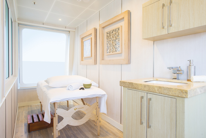 Massage room on-board Silversea Silver Galapagos