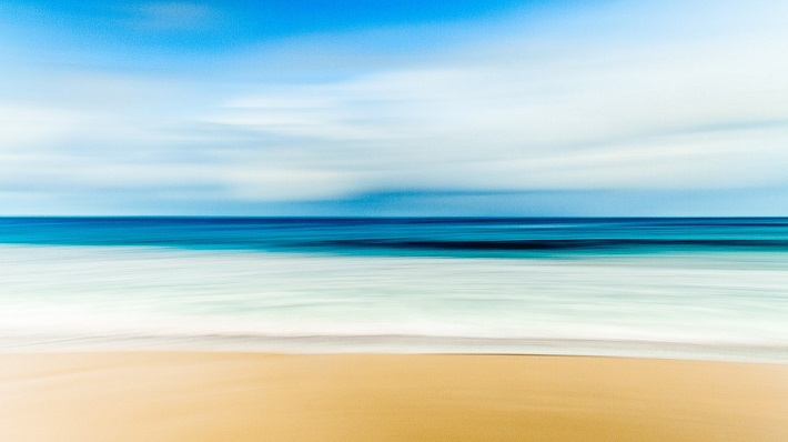 Abstract beach visited during Australia cruises