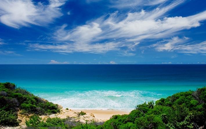 A sun-soaked beach during a cruise to Australia