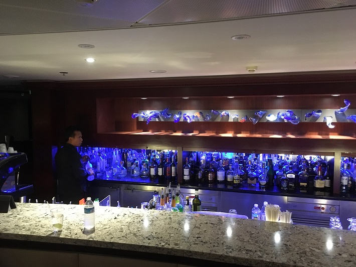 Bar with blue lights on-board Azamara Quest