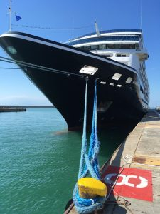 Azamara Quest cruise ship docked in-port