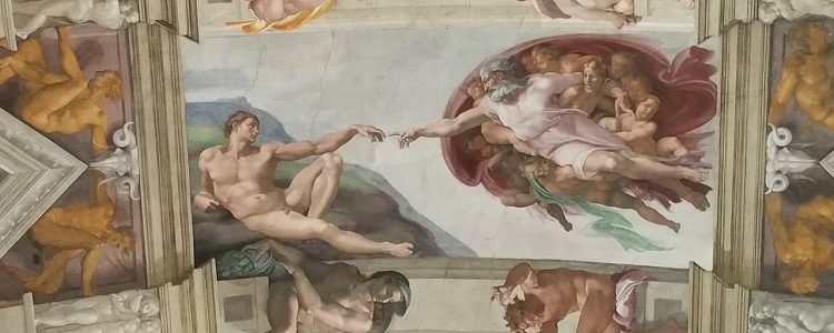 Michelangelo's iconic ceiling paintings in the Sistine Chapel