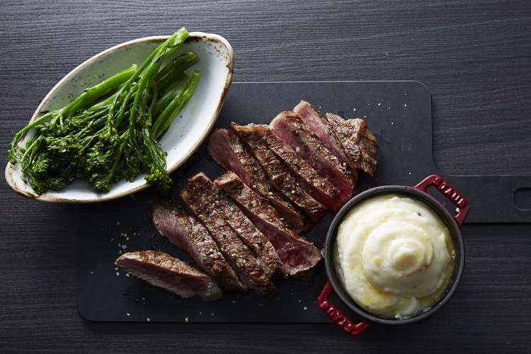 Succulent beef dish on-board a Celebrity cruise ship