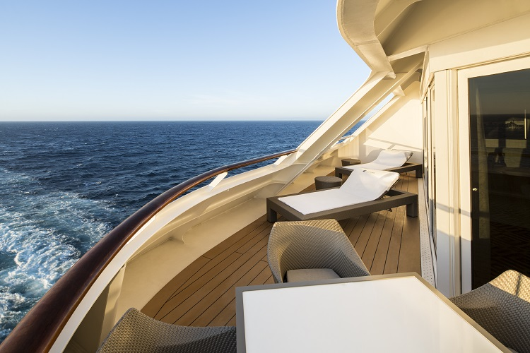 The balcony of an Owner's Suite on-board Azamara Journey