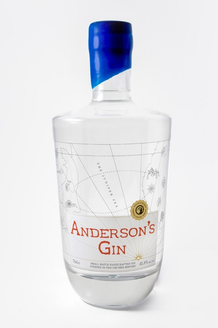 A bottle of P&O Cruises' exclusive Anderson's gin