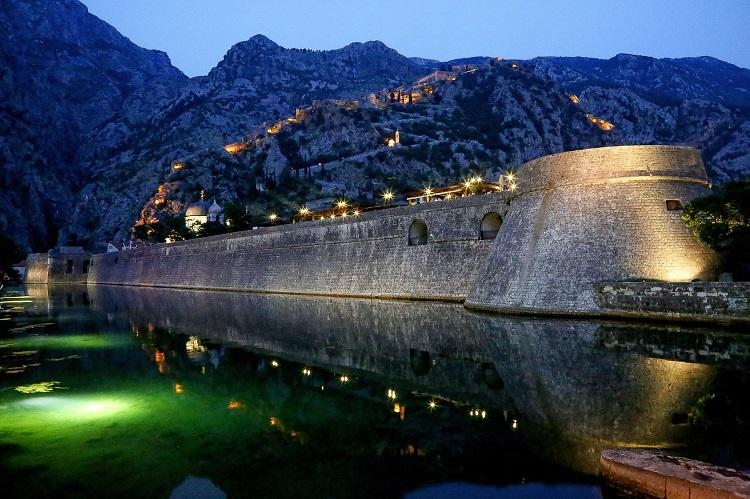 An ancient fortification bridge in Kotor in Montenegro