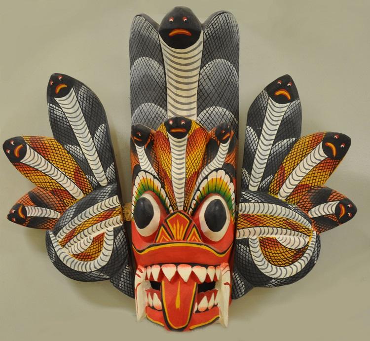 Mask representing the fanged Hindu monster rakshasa