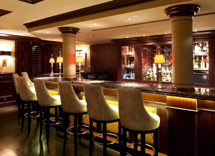 The bar area on-board Crystal Symphony