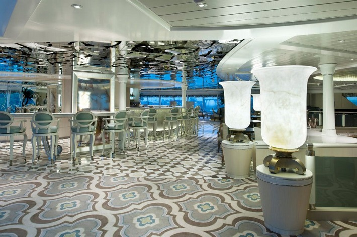 The elegant Palm Court on-board Crystal Symphony