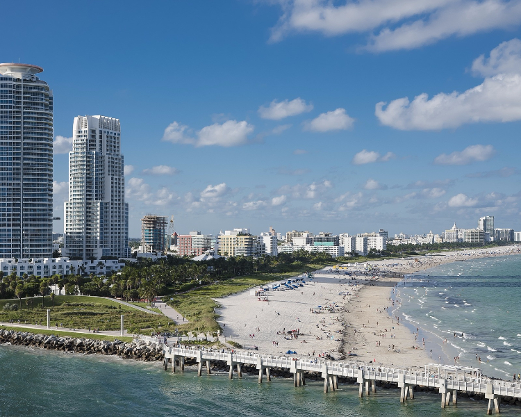 Miami beaches - a popular beach destination and filming location of Scarface