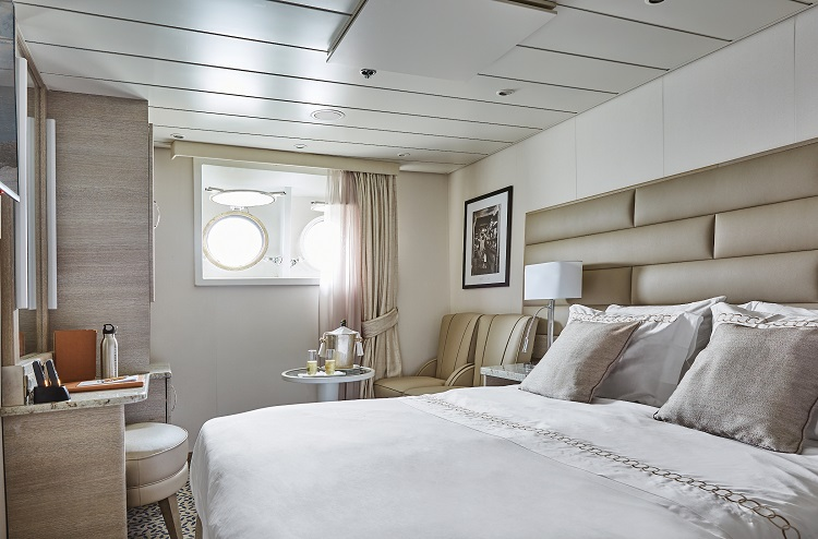 The bedroom in an Outside stateroom on-board Silver Explorer
