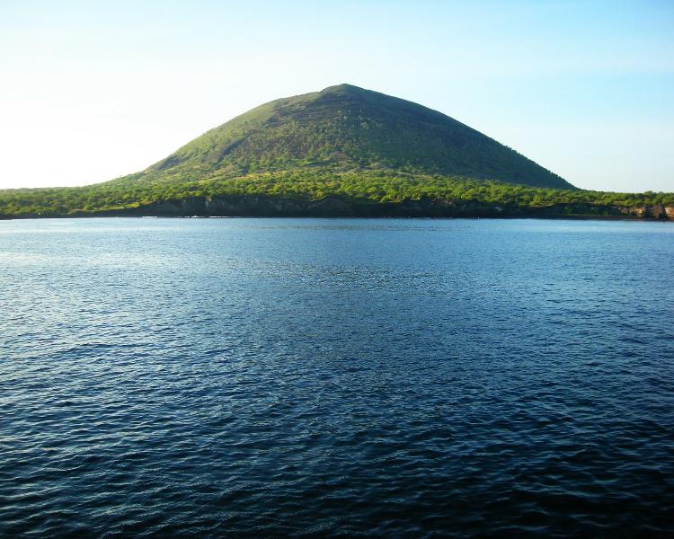 Idyllic island in Galapagos