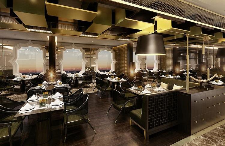 The dining area on-board Regent Seven Seas Explorer