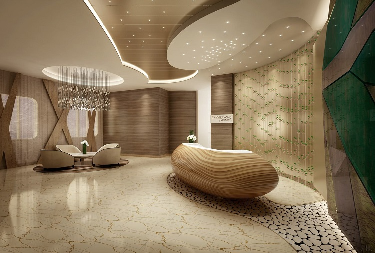 The spa reception on-board Regent Seven Seas Explorer