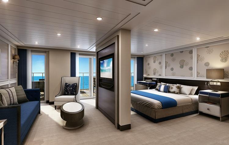 An Explorer Suite on-board Regent Seven Seas Explorer