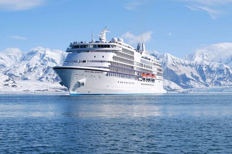 The Regent Seven Seas Navigator cruise ship in Alaska