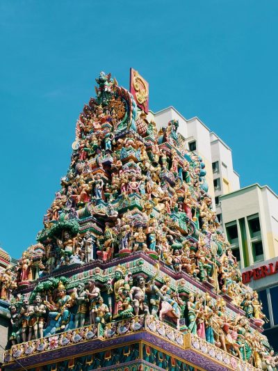 An ornate traditional temple in Singapore