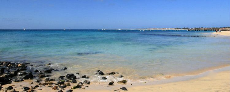 White sands along the beach in Cape Verde