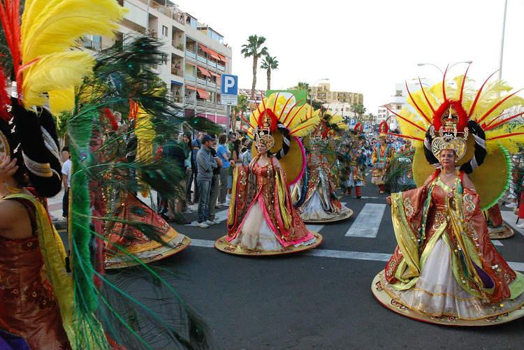 Carnival parade in Santa Cruz de Tenerfie