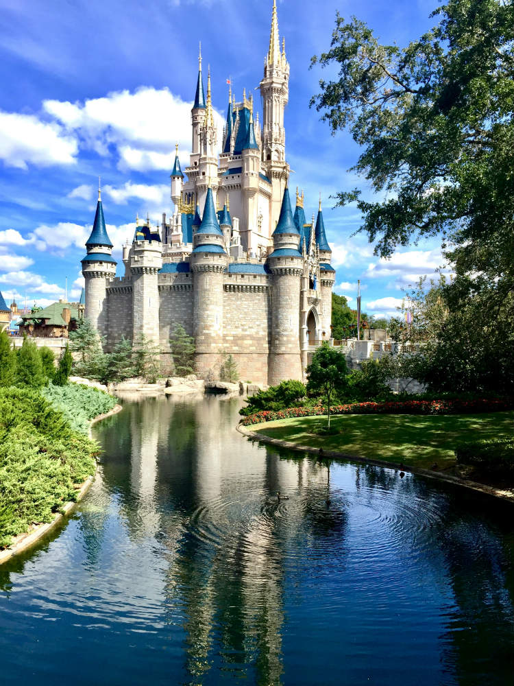 A fairytale castle at Disney World in Florida