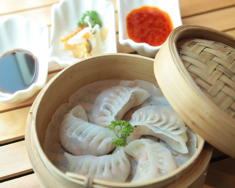 Dumplings - a popular dish during Chinese New Year