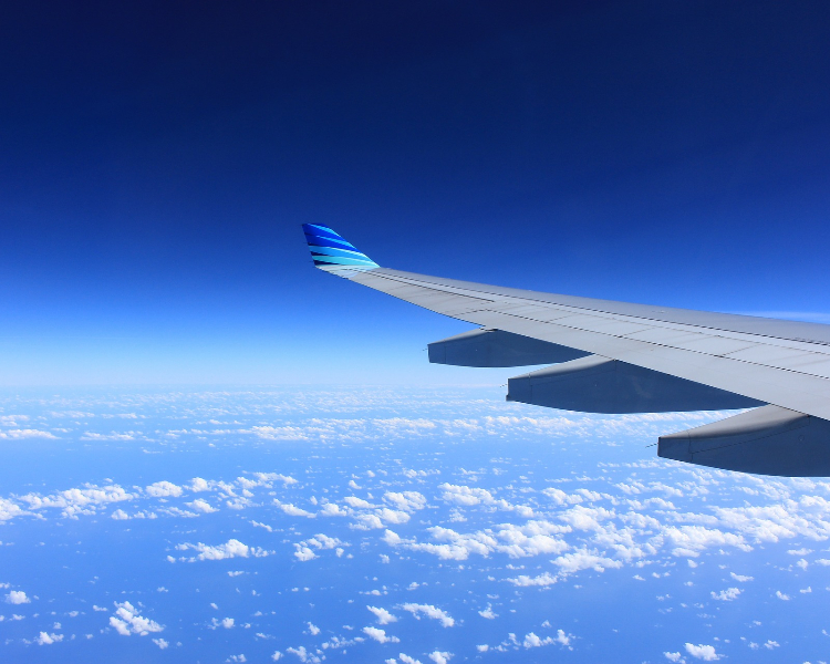 Plane flying to cruise port - offered free with Regent cruises