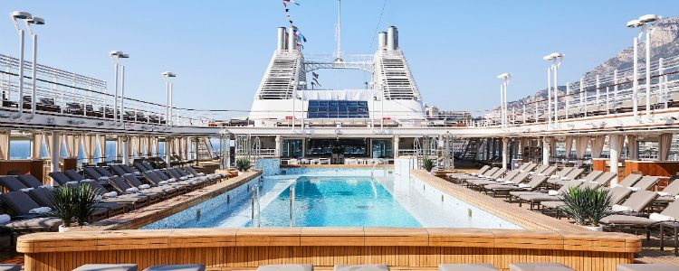 The large pool on-board Silversea Silver Muse