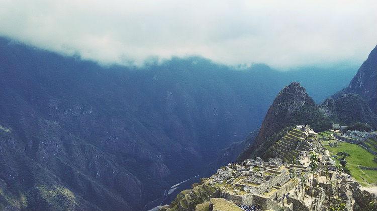 Mayan ruin site in South America - Machu Picchu
