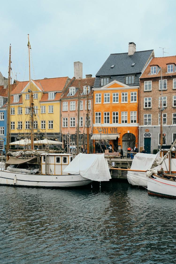 The neighbourhood of Nyhaven in Copenhagen