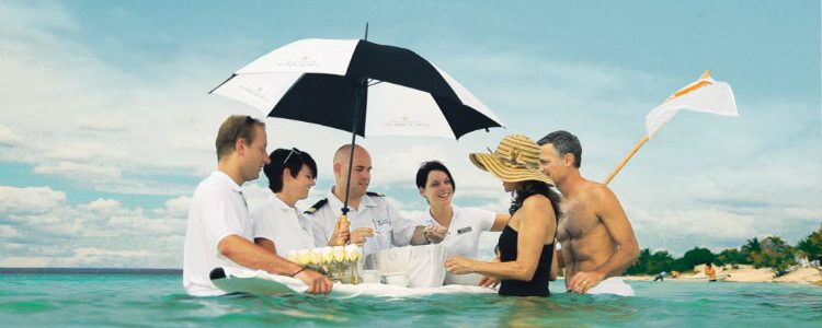 Caviar in the Surf experience with Seabourn