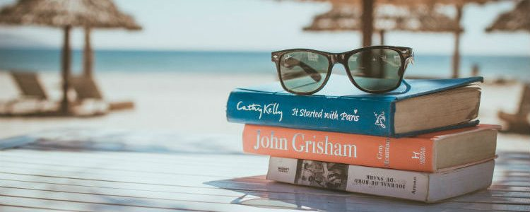 Holiday reading - Stack of books