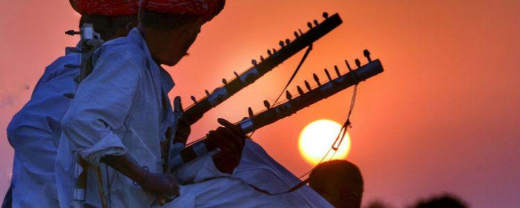 Men playing instruments - Rajasthan, India