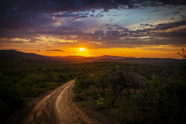 African sunset - Stunning landscape