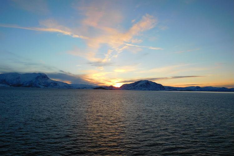 Sunset in Norway - Viking Sky