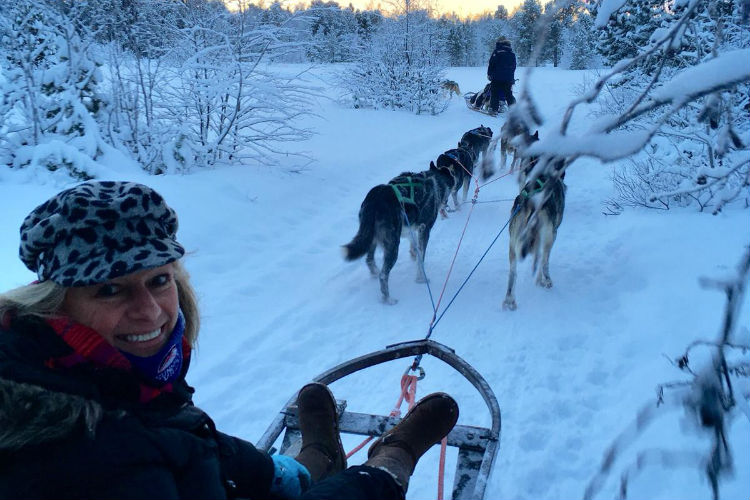 Husky sled trip - Norway