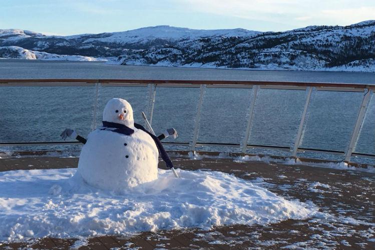 Snowman on-board Viking Sky - Viking Ocean