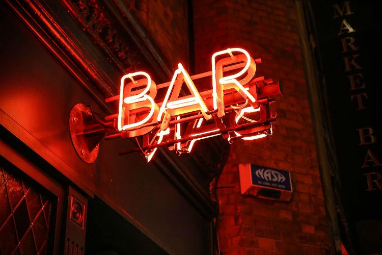 Sign outside a bar