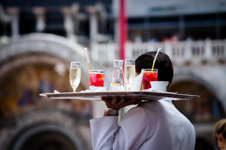 Waiter in Italy