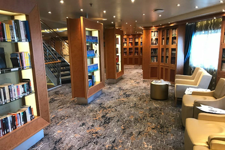 Library on-board Regent Voyager