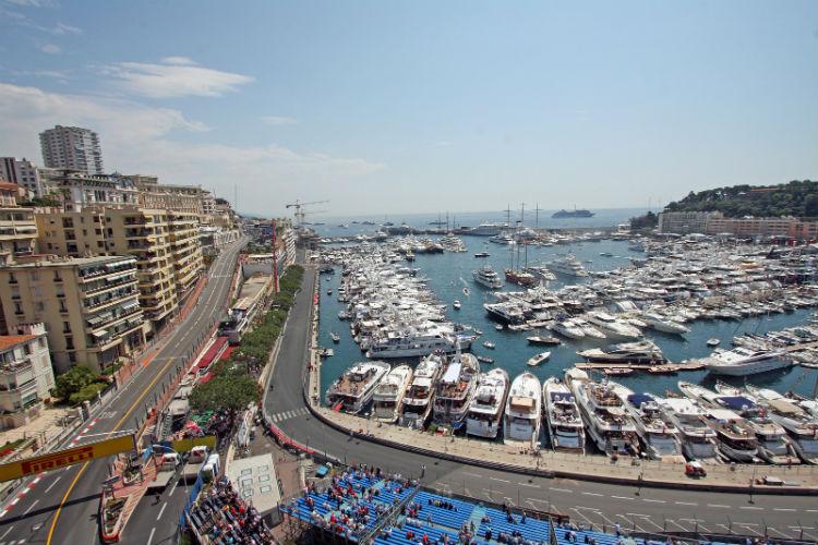 Landscape of Monaco during the Grand Prix