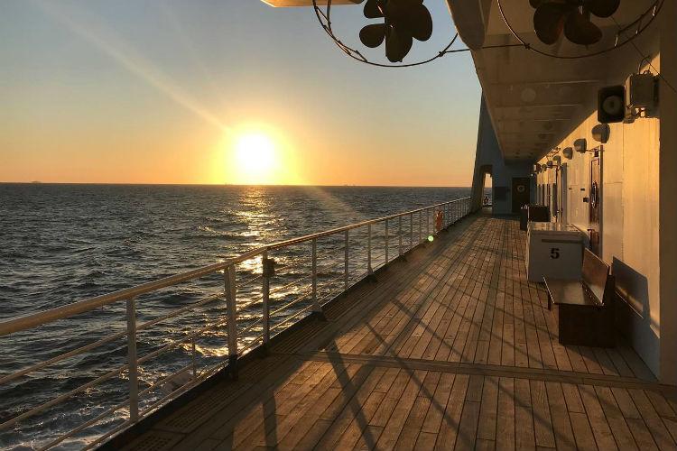 Outside deck - Regent Voyager