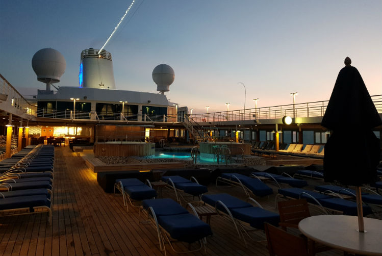 Pool deck aboard Insignia - Oceania Cruises