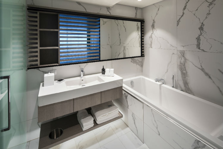 Bathroom in the Edge Villa - Celebrity Edge Accommodation
