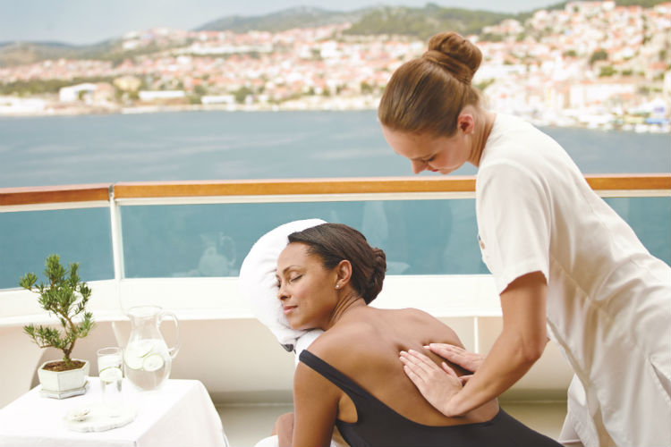 Woman having a massage - Seabourn