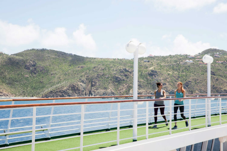 Women on walking track - Crystal Symphony